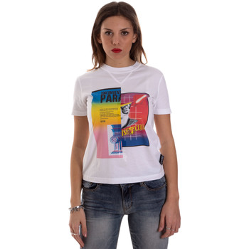 Ruhák Női Rövid ujjú pólók Versace B2HVB7V630331003 Fehér
