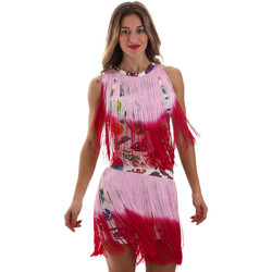 Ruhák Női Rövid ruhák Versace D2HVB406S0777K67 Fehér