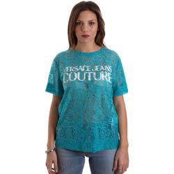 Ruhák Női Rövid ujjú pólók Versace B2HVB70804748207 Kék