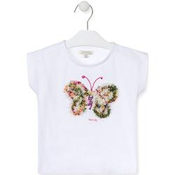 Ruhák Lány Rövid ujjú pólók Losan 016-1790AL Fehér