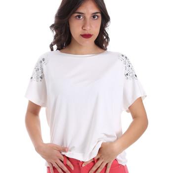 Ruhák Női Rövid ujjú pólók Gaudi 011FD64022 Fehér
