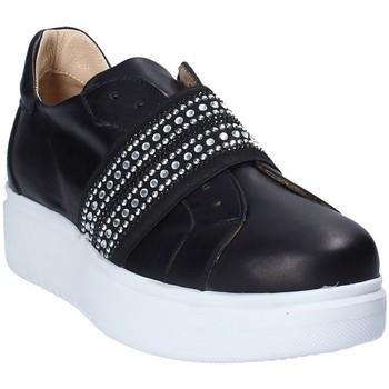 Cipők Női Belebújós cipők Exton E05 Fekete