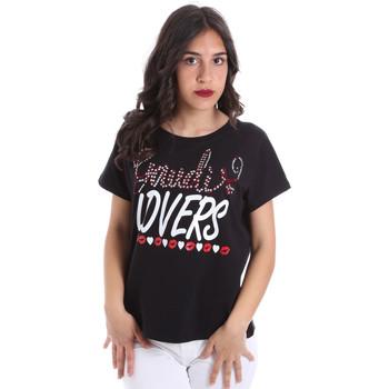 Ruhák Női Rövid ujjú pólók Gaudi 011BD64008 Fekete