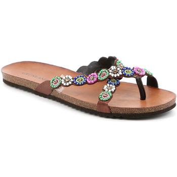 Cipők Női Lábujjközös papucsok Grunland CB2502 Barna