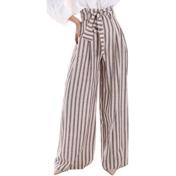 Ruhák Női Lenge nadrágok Gaudi 011FD25034 Bézs