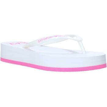 Cipők Női Lábujjközös papucsok Ea7 Emporio Armani XFQ008 XK085 Fehér