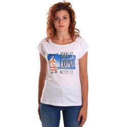 Ruhák Női Rövid ujjú pólók Key Up 5D72S 0001 Fehér