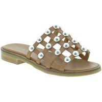 Cipők Női Papucsok Mally 6141 Barna