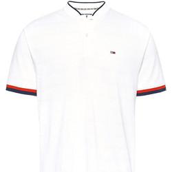 Ruhák Férfi Rövid ujjú galléros pólók Tommy Jeans DM0DM07780 Fehér