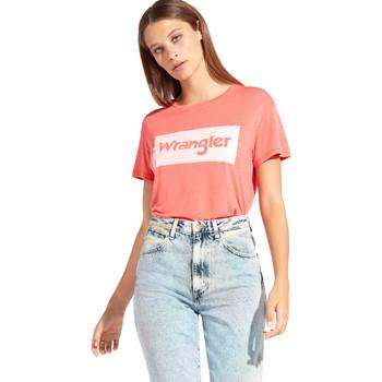 Ruhák Női Rövid ujjú pólók Wrangler W7016D Piros
