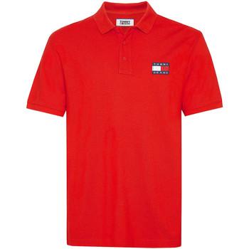 Ruhák Férfi Rövid ujjú galléros pólók Tommy Jeans DM0DM07456 Piros