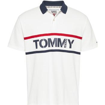 Ruhák Férfi Rövid ujjú galléros pólók Tommy Jeans DM0DM07779 Fehér