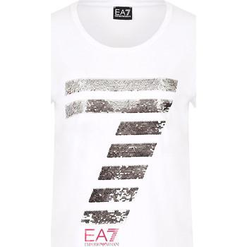 Ruhák Női Rövid ujjú pólók Ea7 Emporio Armani 3HTT41 TJ12Z Fehér