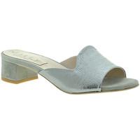 Cipők Női Papucsok Mally 6195 Ezüst