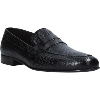 Cipők Férfi Mokkaszínek Exton 1021 Fekete