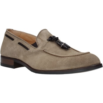Cipők Férfi Mokkaszínek Exton 1111 Bézs