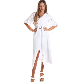 Ruhák Női Hosszú ruhák Fracomina FR20SM561 Fehér