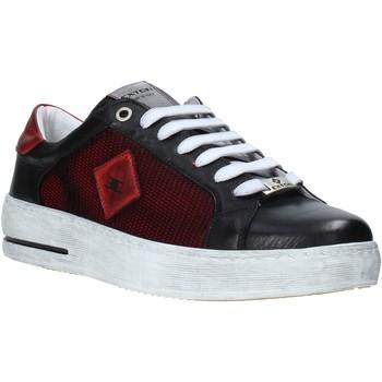Cipők Férfi Rövid szárú edzőcipők Exton 177 Fekete