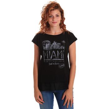 Ruhák Női Rövid ujjú pólók Key Up 5Z10S 0001 Fekete