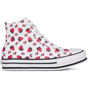 Cipők Lány Magas szárú edzőcipők Converse 668016C Fehér