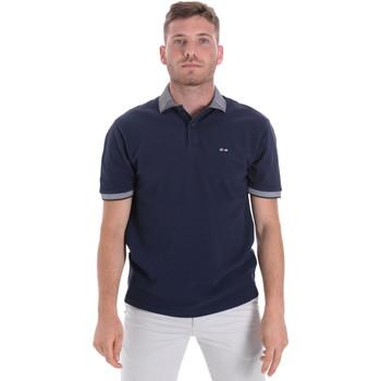 Ruhák Férfi Rövid ujjú galléros pólók Les Copains 9U9024 Kék