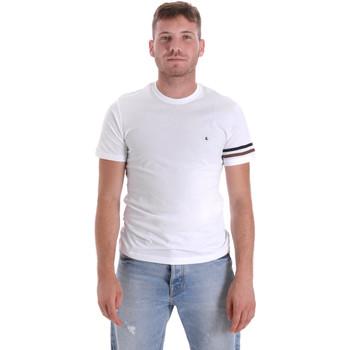 Ruhák Férfi Rövid ujjú pólók Les Copains 9U9014 Fehér