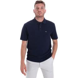 Ruhák Férfi Rövid ujjú galléros pólók Les Copains 9U9023 Kék
