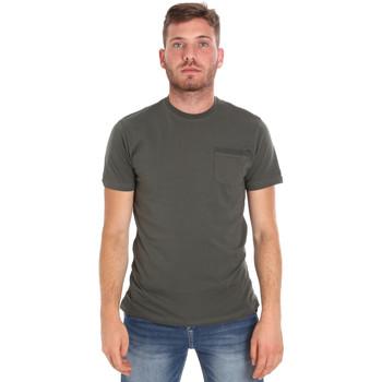 Ruhák Férfi Rövid ujjú pólók Les Copains 9U9010 Zöld