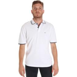 Ruhák Férfi Rövid ujjú galléros pólók Les Copains 9U9020 Fehér