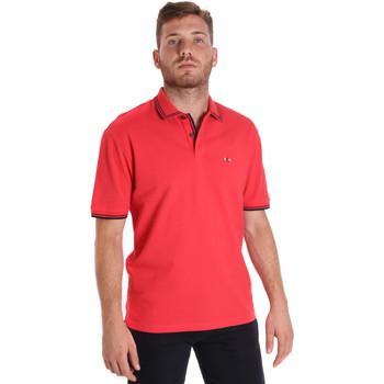 Ruhák Férfi Rövid ujjú galléros pólók Les Copains 9U9020 Piros