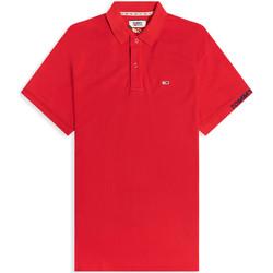 Ruhák Férfi Rövid ujjú galléros pólók Tommy Jeans DM0DM07802 Piros