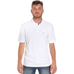 Ruhák Férfi Rövid ujjú galléros pólók Les Copains 9U9015 Fehér