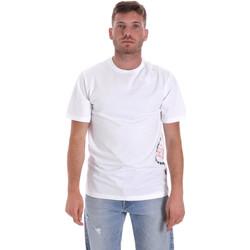 Ruhák Férfi Rövid ujjú pólók Converse 10018872-A02 Fehér