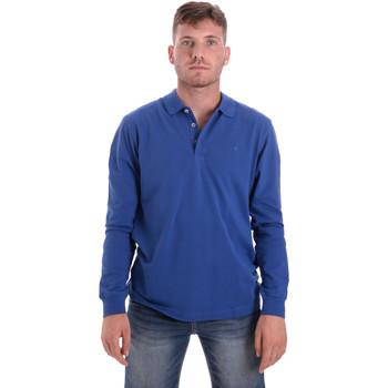 Ruhák Férfi Hosszú ujjú galléros pólók Navigare NV82109 Kék