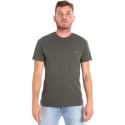 Ruhák Férfi Rövid ujjú pólók Les Copains 9U9011 Zöld