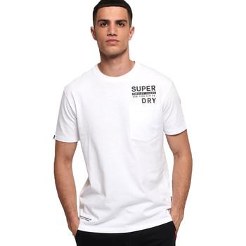 Ruhák Férfi Rövid ujjú pólók Superdry M1000040A Fehér