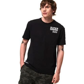 Ruhák Férfi Rövid ujjú pólók Superdry M1000040A Fekete
