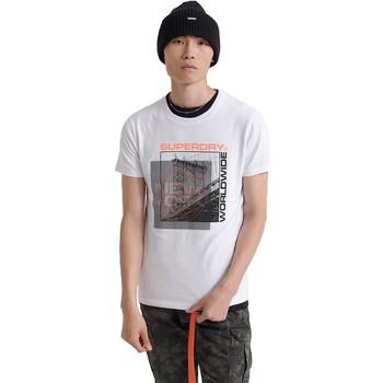 Ruhák Férfi Rövid ujjú pólók Superdry M1000047A Fehér