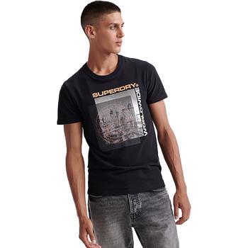 Ruhák Férfi Rövid ujjú pólók Superdry M1000047A Fekete