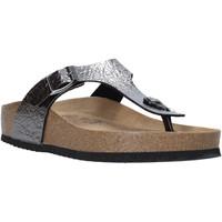Cipők Női Lábujjközös papucsok Valleverde G51572 Fekete