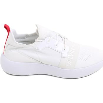 Cipők Női Rövid szárú edzőcipők Calvin Klein Jeans RE9809 Fehér