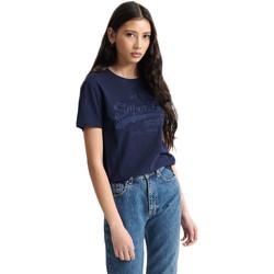 Ruhák Női Rövid ujjú pólók Superdry W1010028A Kék