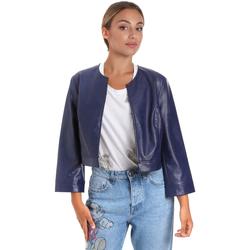 Ruhák Női Bőrkabátok / műbőr kabátok Fracomina FR20SM708 Kék