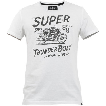 Ruhák Férfi Rövid ujjú pólók Superdry M1010259A Fehér