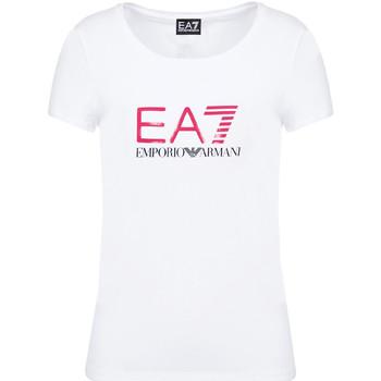 Ruhák Női Rövid ujjú pólók Ea7 Emporio Armani 8NTT63 TJ12Z Fehér