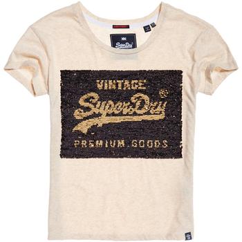 Ruhák Női Rövid ujjú pólók Superdry G10010MR Bézs