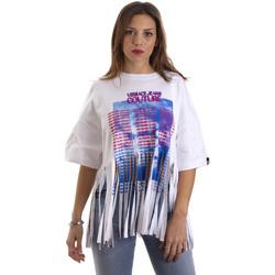 Ruhák Női Rövid ujjú pólók Versace B2HVB7V730384003 Fehér