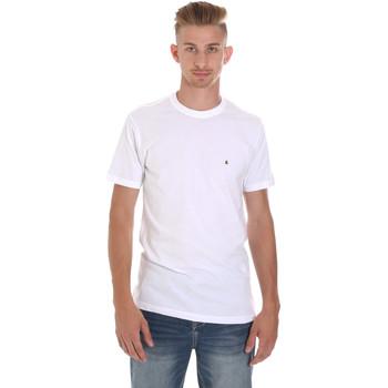Ruhák Férfi Rövid ujjú pólók Les Copains 9U9011 Fehér