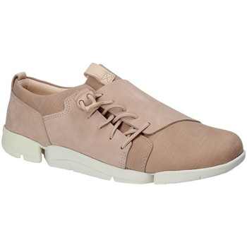 Cipők Női Rövid szárú edzőcipők Clarks 131761 Rózsaszín