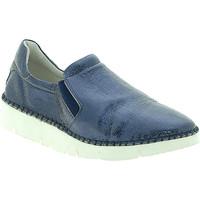 Cipők Női Belebújós cipők Mally 5711 Kék